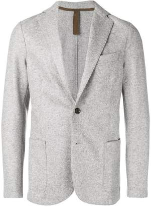 Eleventy melange single breasted blazer