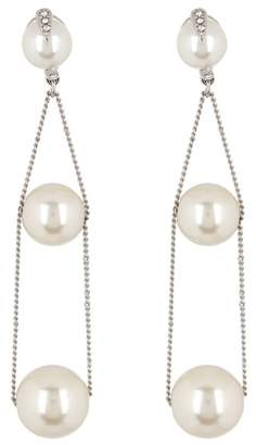 Vince Camuto Linear Chain Glass Pearl Earrings