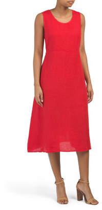 0d5c1c9e779 Made In Italy Linen Tie Back Midi Dress
