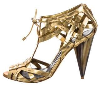 Tom Ford Metallic Cage Sandals Gold Metallic Cage Sandals