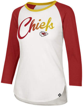 '47 Women Kansas City Chiefs Splitter Ombre Raglan T-Shirt