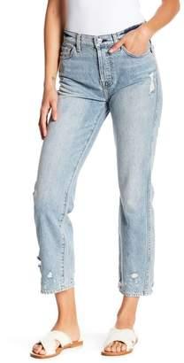 7 For All Mankind Edie High Waist Crop Straight Leg Jeans
