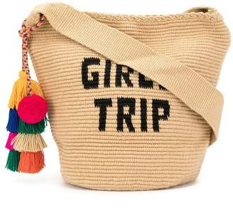 Soraya Hennessy Girls Trip Mochila woven bucket bag