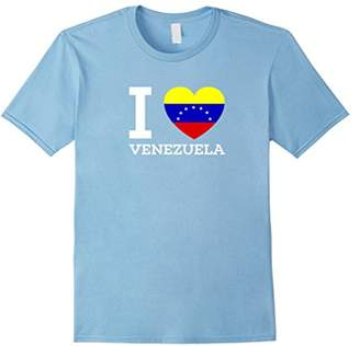 I Love VENEZUELA Flag Heart T shirt for Venezuela Lovers