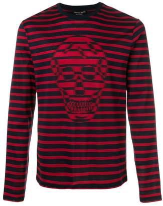 Alexander McQueen skull striped jumper