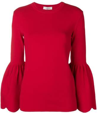 Valentino knitted billowing sleeve sweater