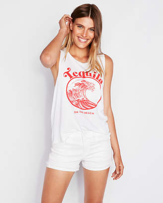 Express Tequila On The Beach Crew Neck Muscle Tank