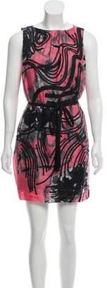 Robert Rodriguez Sleeveless Silk Dress