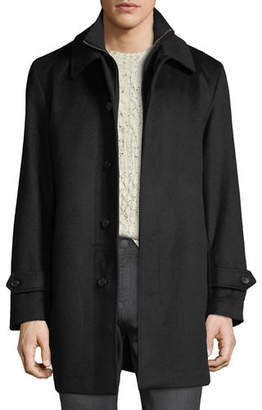 Sanyo Men's Merled Wool Getaway Layered Topcoat