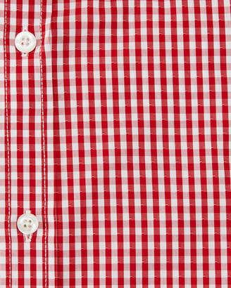 English Laundry Classic-Fit Gingham Dress Shirt, Red