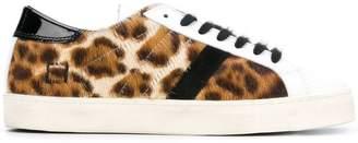 D.A.T.E leopard lace-up sneakers