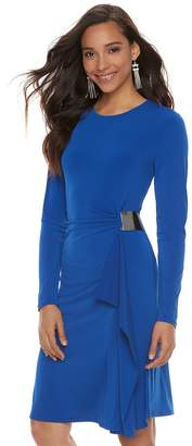 JLO by Jennifer Lopez Women's Ruched Sheath Dress