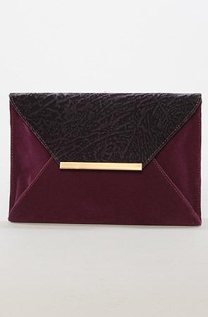 Nila Anthony The Suedetta Envelope Clutch