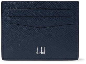 Dunhill Cadogan Pebble-Grain Leather Cardholder - Men - Navy