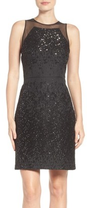Women's Vera Wang Metallic Sheath Dress $258 thestylecure.com