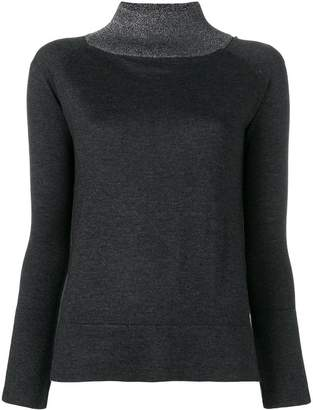 Snobby Sheep contrasting high collar sweater