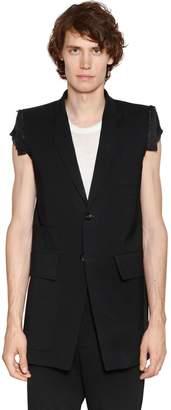 Rick Owens Stretch Virgin Wool Gauze Jacket
