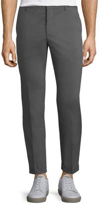 Prada Cotton-Blend Straight-Leg Pants