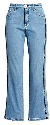 MSGM Women's Logo Stripe Jeans
