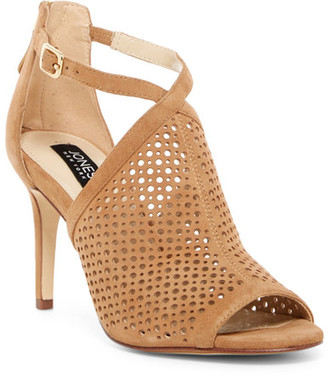 Jones New York Georgina Perforated Sandal $129 thestylecure.com