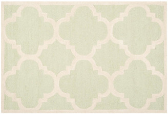 One Kings Lane Carly Rug - Light Green/Ivory
