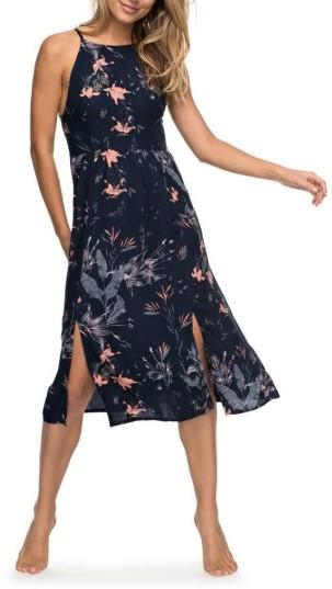 Women's Roxy Sparkle Bright Print Midi Dress