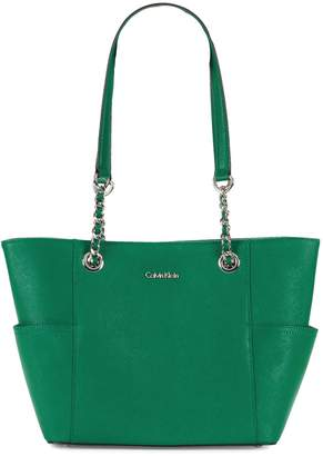 Calvin Klein Key Item Saffiano Leather Tote