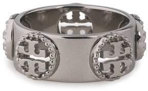 Tory Burch Milgrain Silver-Tone Ring