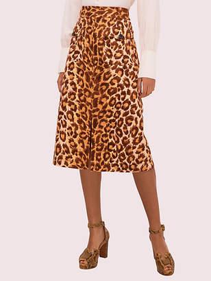 Kate Spade Panthera Canvas Skirt, Neutral - Size 0