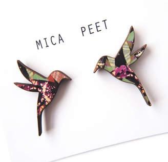 Mica Peet Hummingbird Stud Earrings