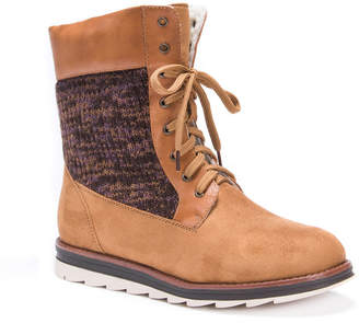 Muk Luks Womens Chirsty Water Resistant Winter Boots Lace-up