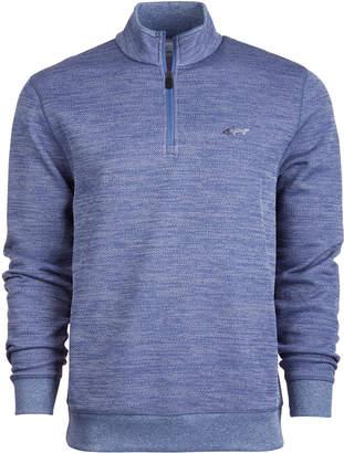 Greg Norman Attack Life by Men's Rapiwarm Quarter Zip Herringbone Sweater
