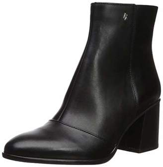 Armani Exchange A|X Women's Smooth Leather Boot with Block Heel Fashion