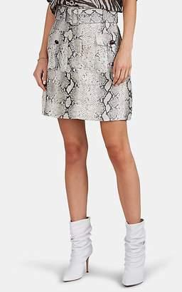 Zimmermann Women's Python-Print Linen Miniskirt