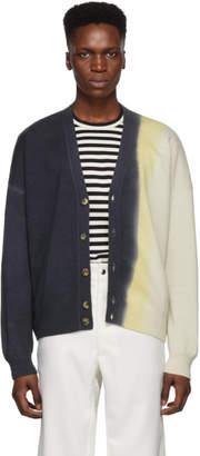 Loewe Indigo Cashmere Cropped Cardigan