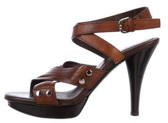 Tod's Leather Platform Sandals