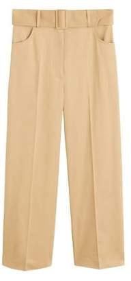 5a1ddcd7f9b High Waist Wide Leg Cropped Trousers - ShopStyle UK