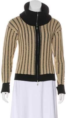 Malo Cashmere Zip-Up Cardigan Tan Cashmere Zip-Up Cardigan