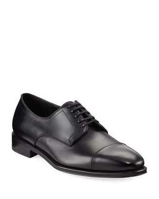 Salvatore Ferragamo Men's Leather Cap-Toe Oxford