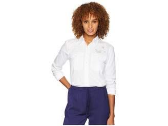 Lauren Ralph Lauren Bullion-Patch Poplin Shirt