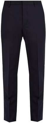 Prada Mid-rise slim-leg flannel-wool trousers