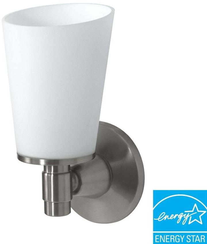 Gatco Max Collection 1-Light Satin Nickel Wall Sconce