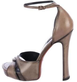 Louis Vuitton Leather Platform Sandals