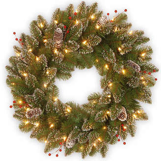 Co NATIONAL TREE National Tree Glittery Mountain Spruce Indoor/Outdoor Christmas Wreath