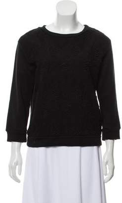 Moncler Embroidered Long Sleeve Top