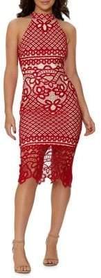 Quiz Crochet Lace Dress
