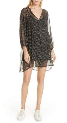 Mes Demoiselles Doree Polka Dot Mini Dress