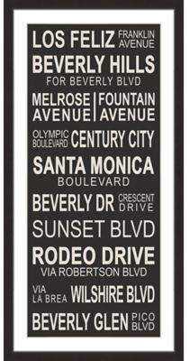 Marmont Hill Cali Streets 30-Inch x 60-Inch Framed Wall Art