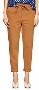 Robert Rodriguez Women's Cotton Twill Crop Pants - Brown