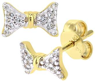 Citerna 9 ct Yellow Gold Stud Earrings with 3.5 mm Cz Stone 8v30rDppR